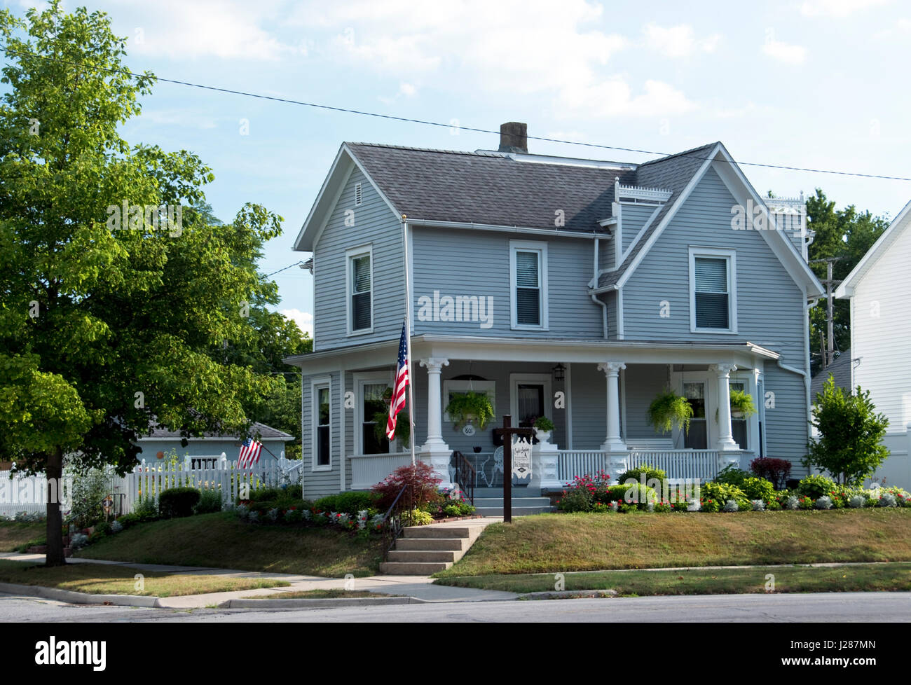 Boyhood home of Apollo 11 astronaut Neil Armstrong, the first man to step on the moon, at Wapakoneta, Ohio. Stock Photo