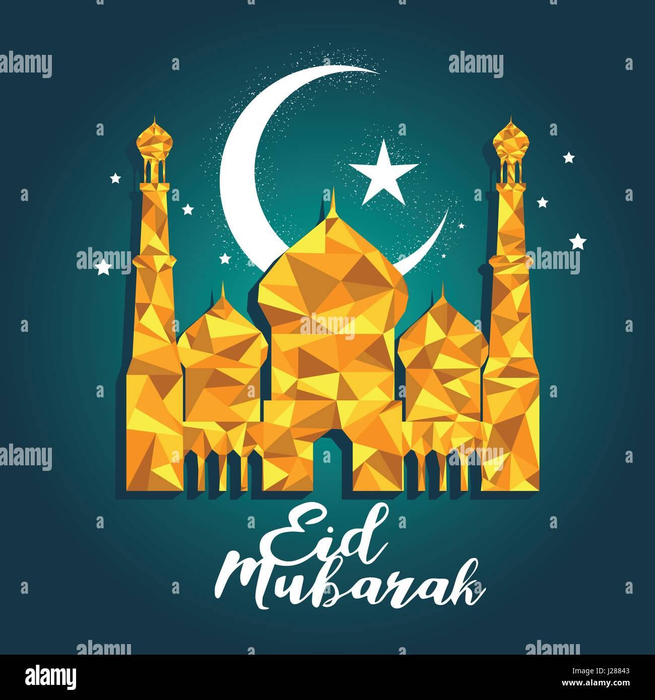 A vector illustration of eid mubarak celebration greeting card stock a vector illustration of eid mubarak celebration greeting card m4hsunfo