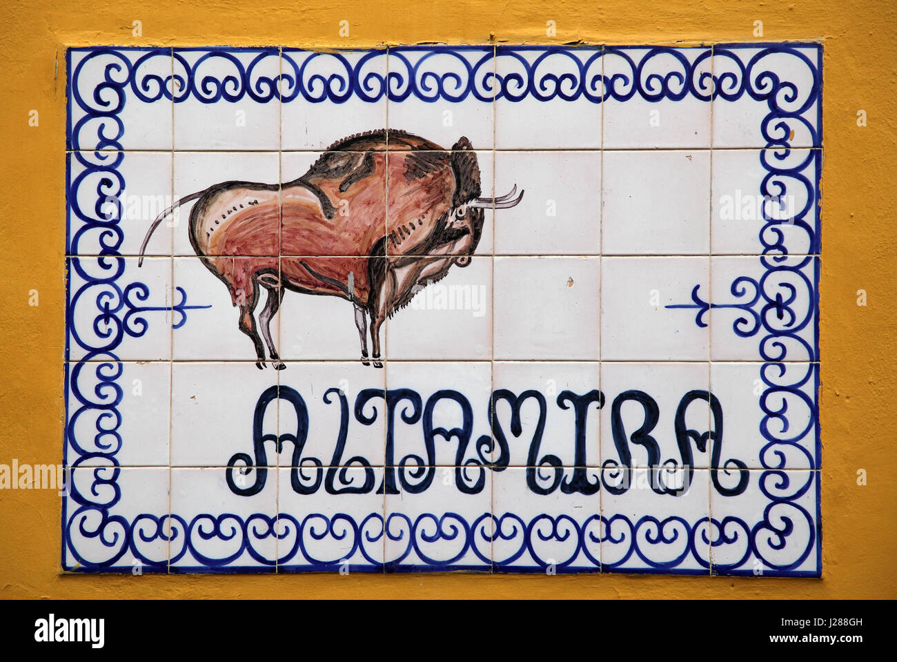Azulejos tiles Sevilla spain Altamira - Stock Image