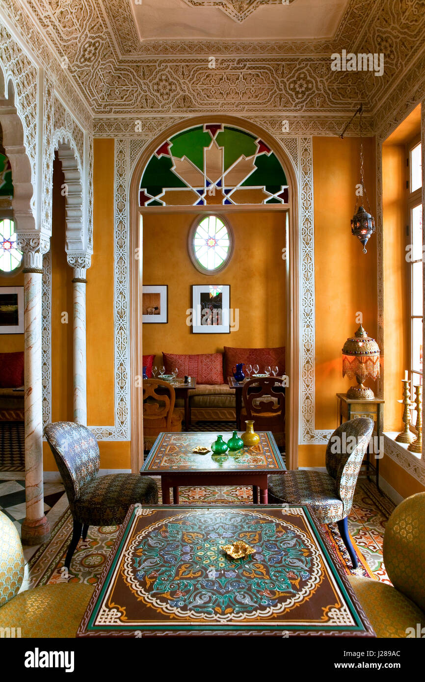 moroccan lounge furniture. Morocco, Tangier, Moroccan Lounge Of The Hotel Nord Pinus Furniture R