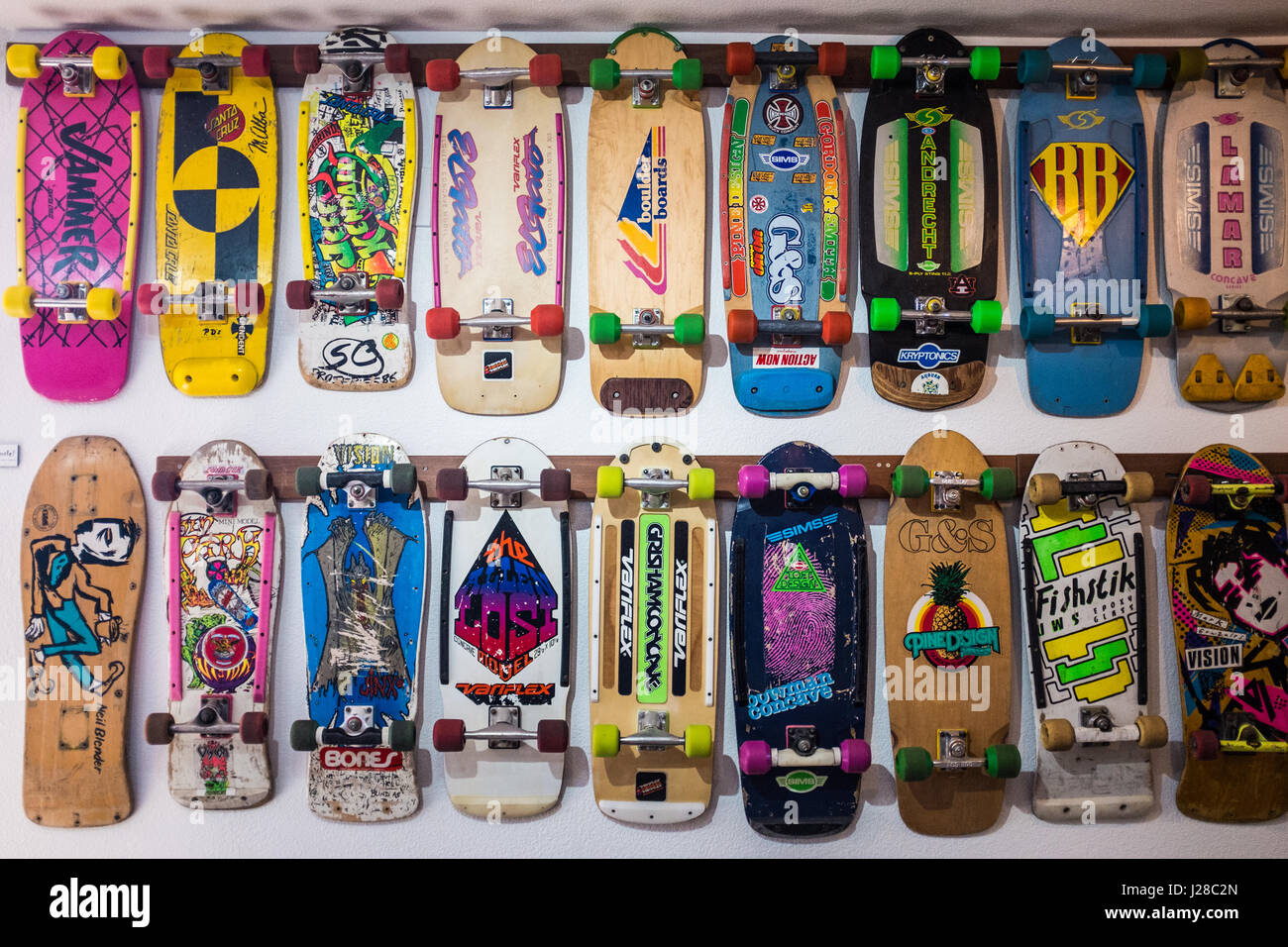 Skateboard Museum, Morro Bay, California - Stock Image