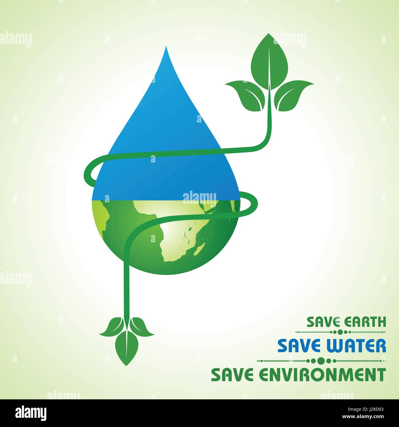 Save Earth Water And Environment Concept Stock Vector Stock Vector