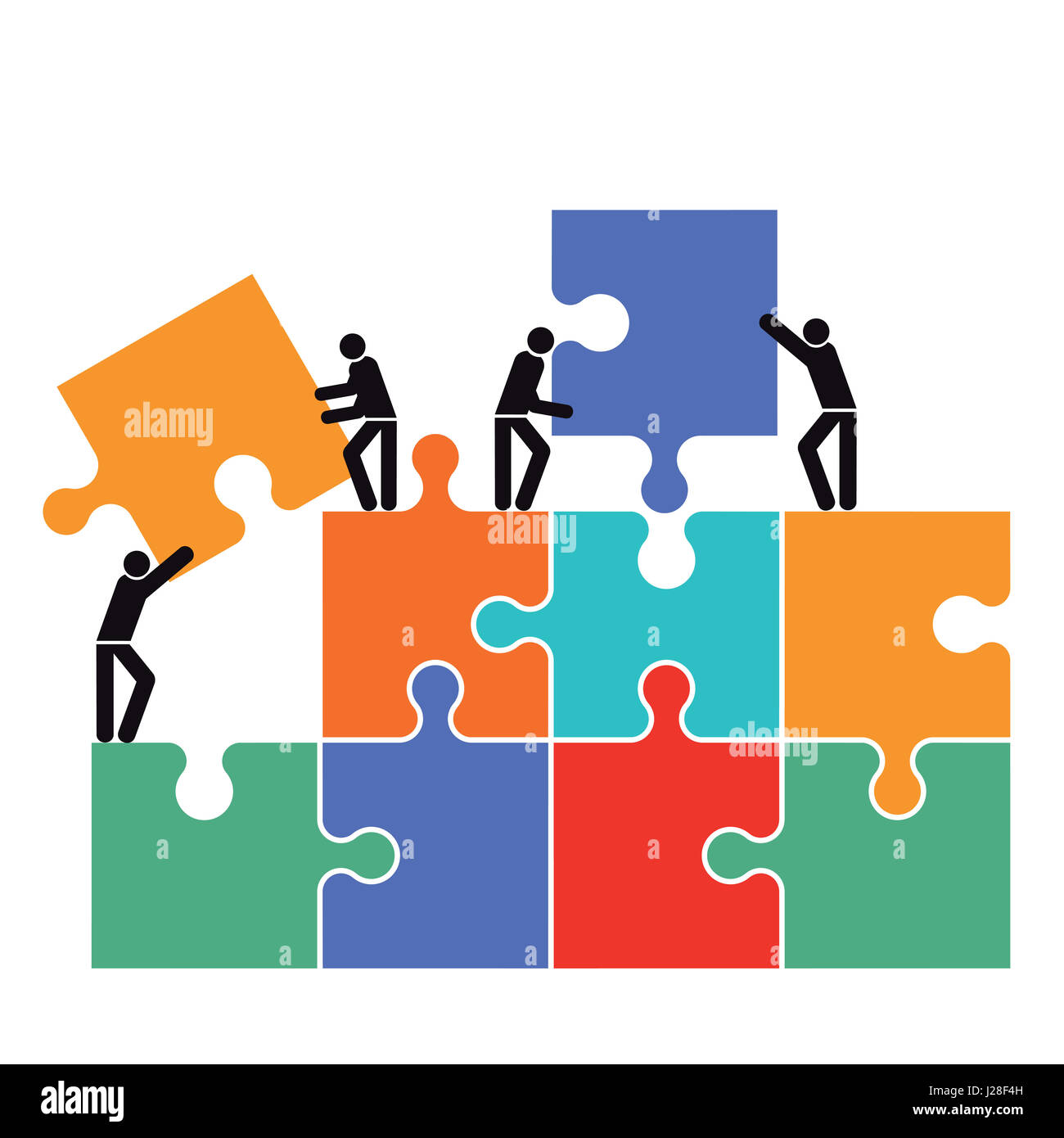 Teamwork Team Group Gear Partnership Cooperation Stock ...  |Group Cooperation