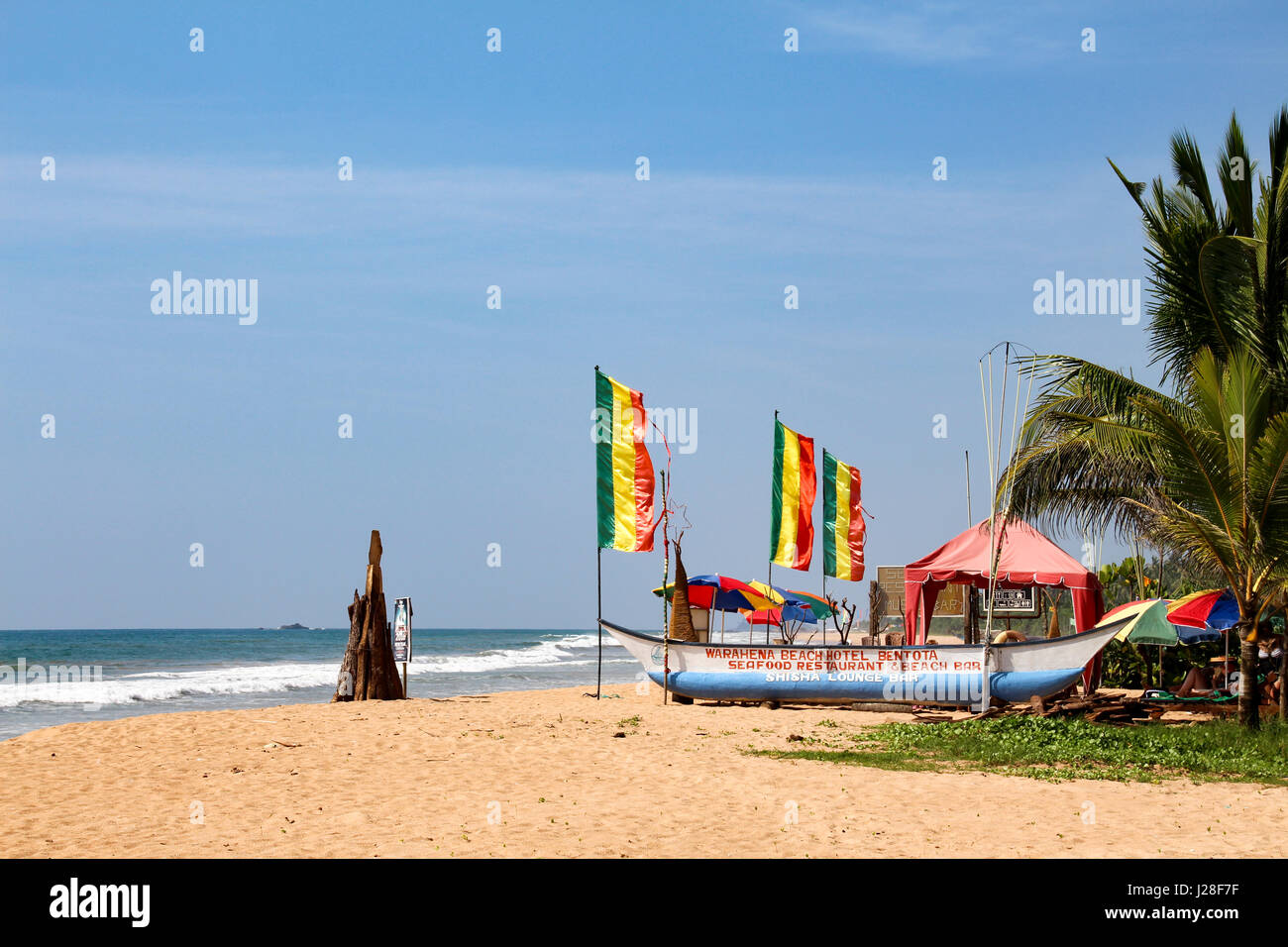 Sri Lanka Western Province Kalutara Beach Restaurant Of The Stock
