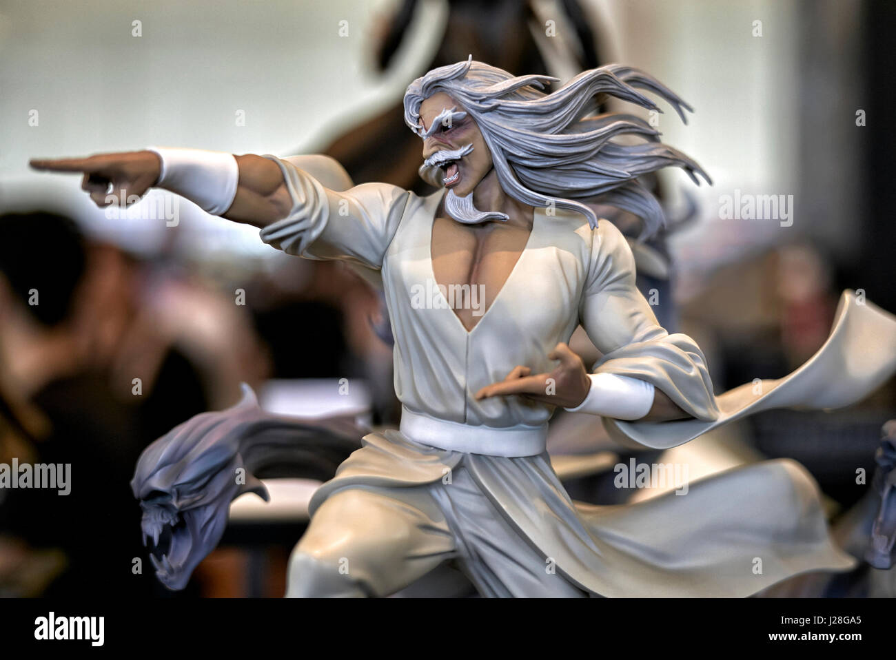 Super Hero and Comic book hero statue on display at a Cosplay event, Bangkok, Thailand, 2017 - Stock Image