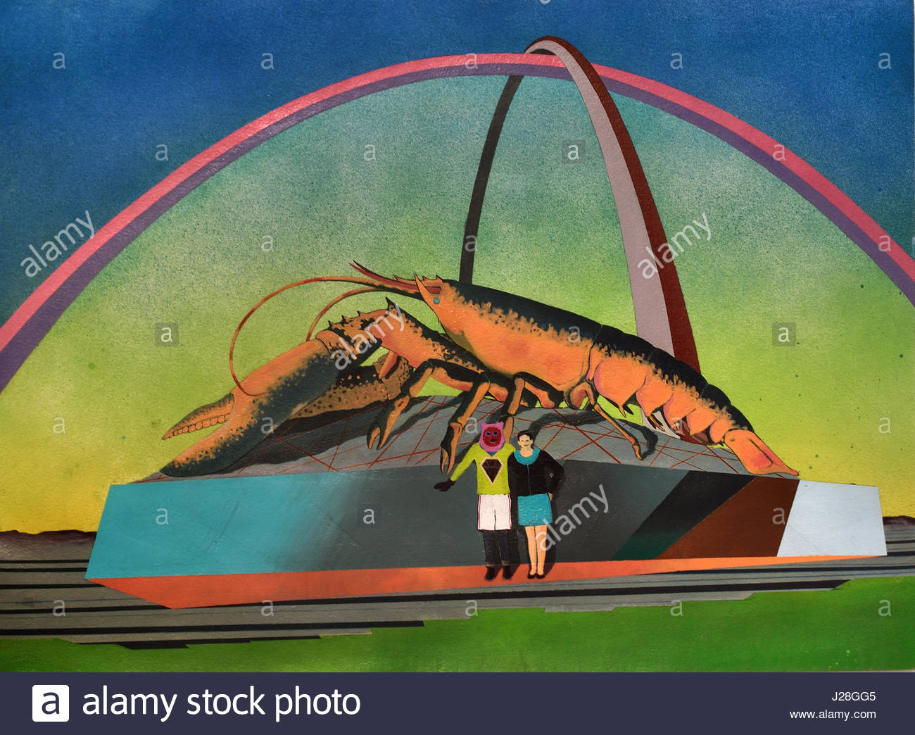 A recollection of past errors manifested as a crustacean 2013 by Basim Magdy 1977 Assiut, Egypt, Egyptian, lives - Stock Image