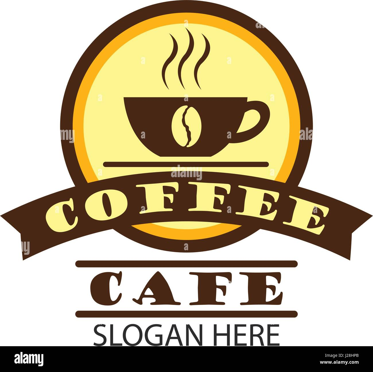 coffee shop logo, label, badge with text space for your slogan Stock ...