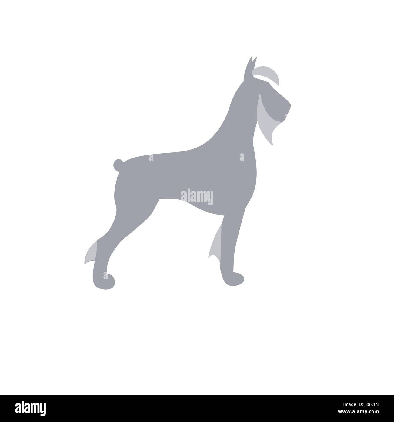 Giant Schnauzer dog vector isolated illustration sign Stock Vector