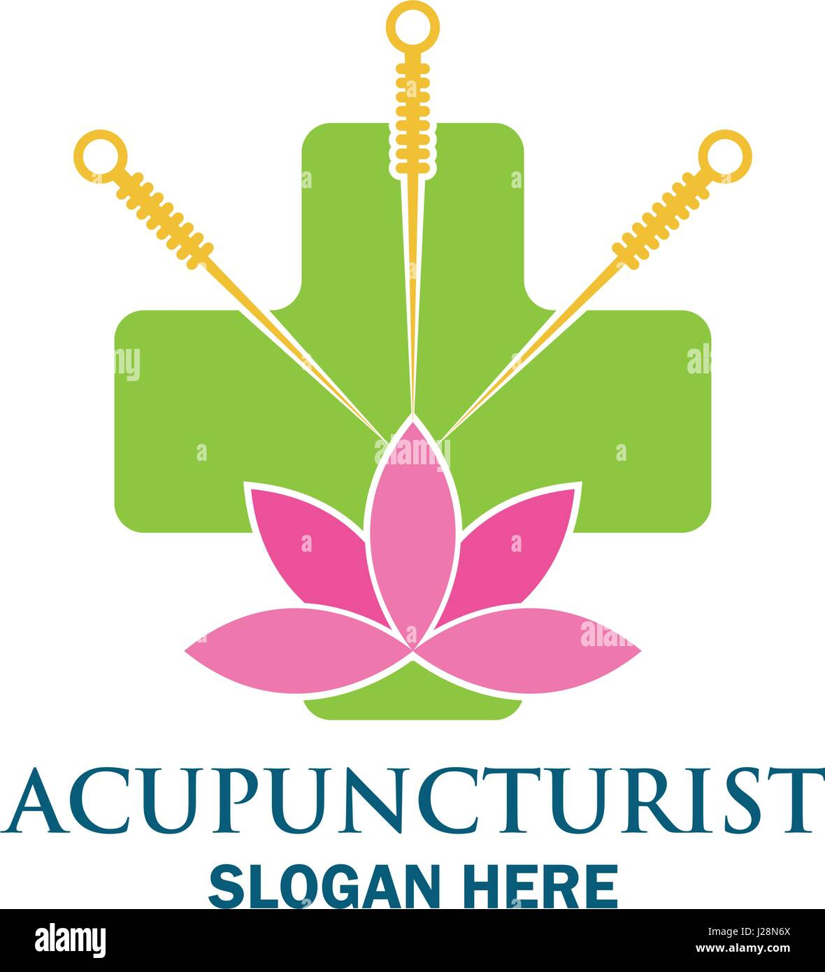 acupuncture therapy logo with text space for your slogan / tagline, vector illustration - Stock Vector