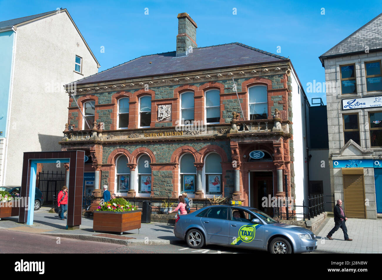 Bank of Ireland building in Letterkenny, County Donegal, Ireland - Stock Image
