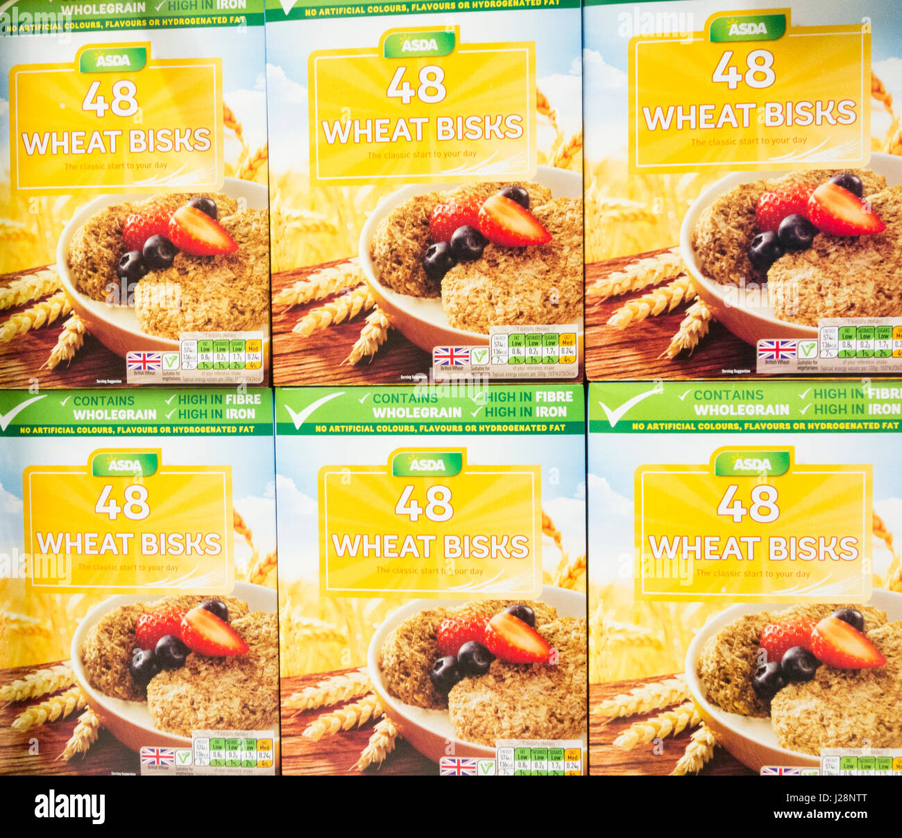 Asda own brand Wheat Bisks breakfast cereal. UK - Stock Image