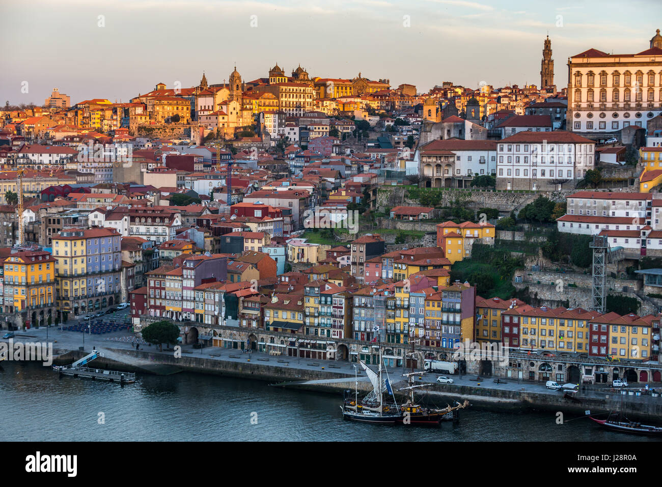 Ribeira District in Porto city on Iberian Peninsula, second largest city in Portugal - Stock Image