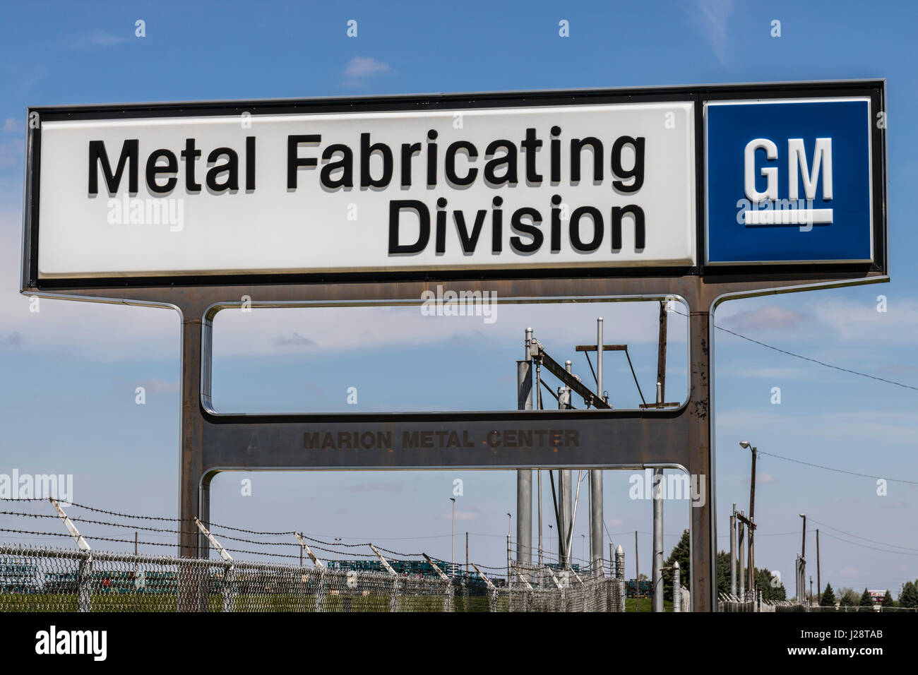 Marion - Circa April 2017: General Motors Metal Fabricating Division. Founded in 1956 as Fisher Body, the plant - Stock Image