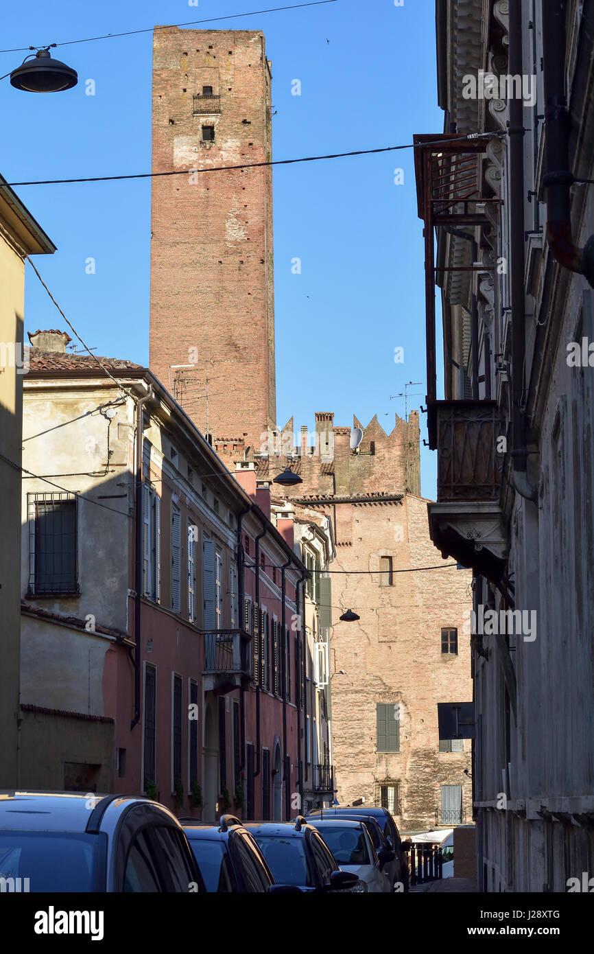 Mantua, Italy, Torre della Gabbia, Cage Tower - Stock Image