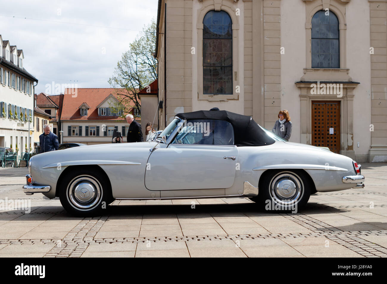 LUDWIGSBURG, GERMANY - APRIL 23, 2017: Mercedes Benz oldtimer car at the eMotionen event on April 23, 2017 in Ludwigsburg, - Stock Image