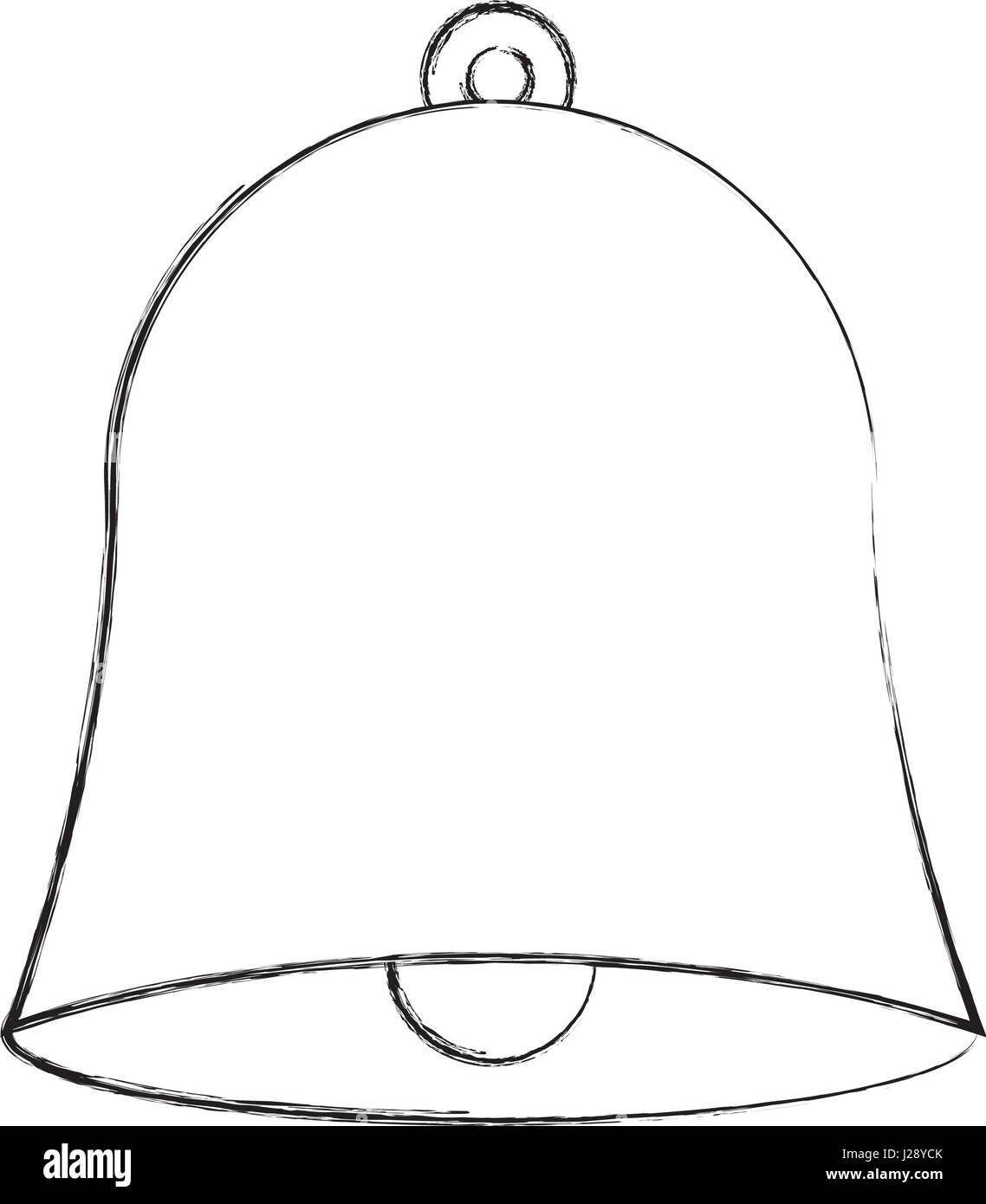 school bell isolated icon - Stock Image