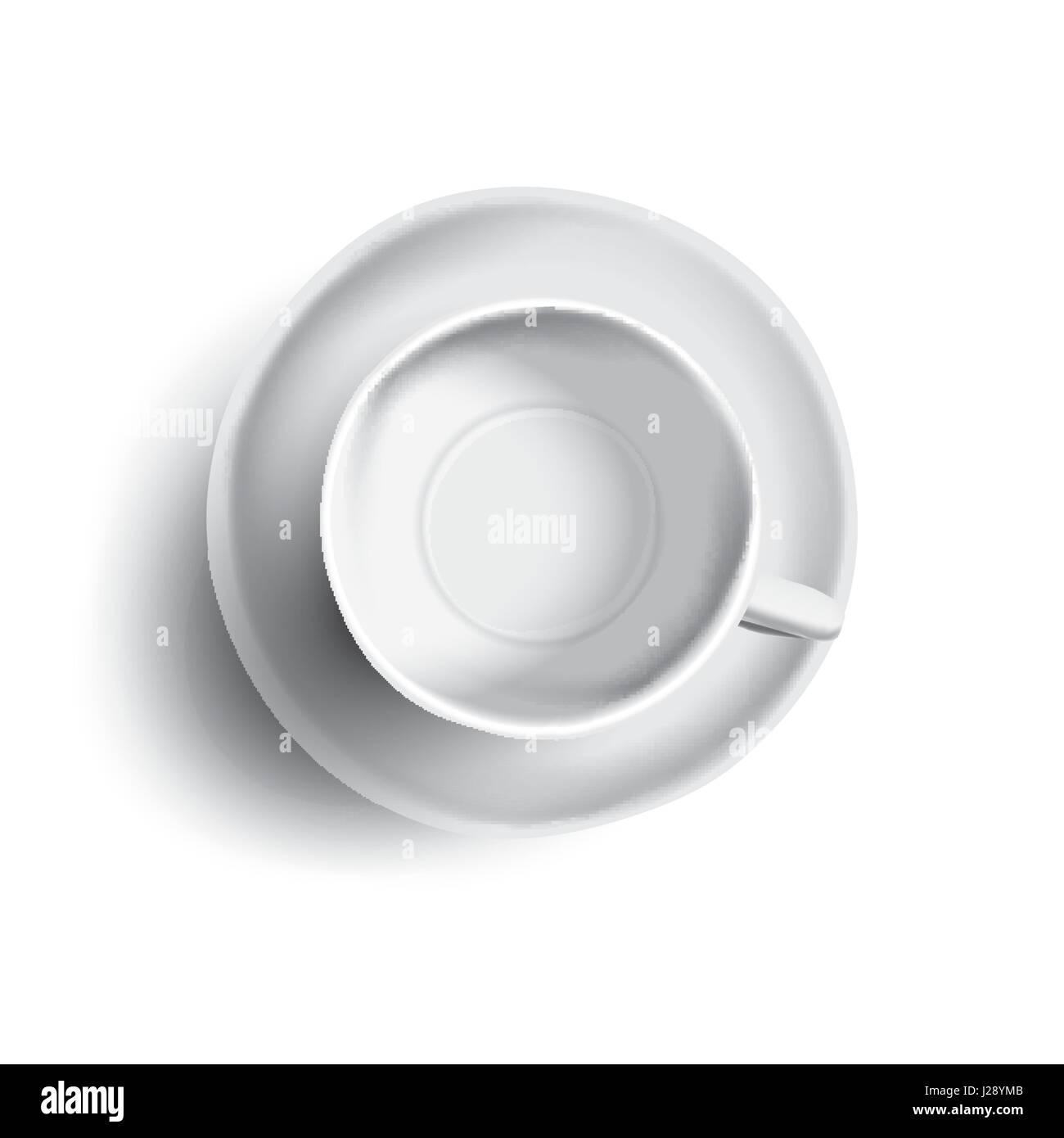 Empty Cup Top : Vector illustration of empty cup tea or coffee top