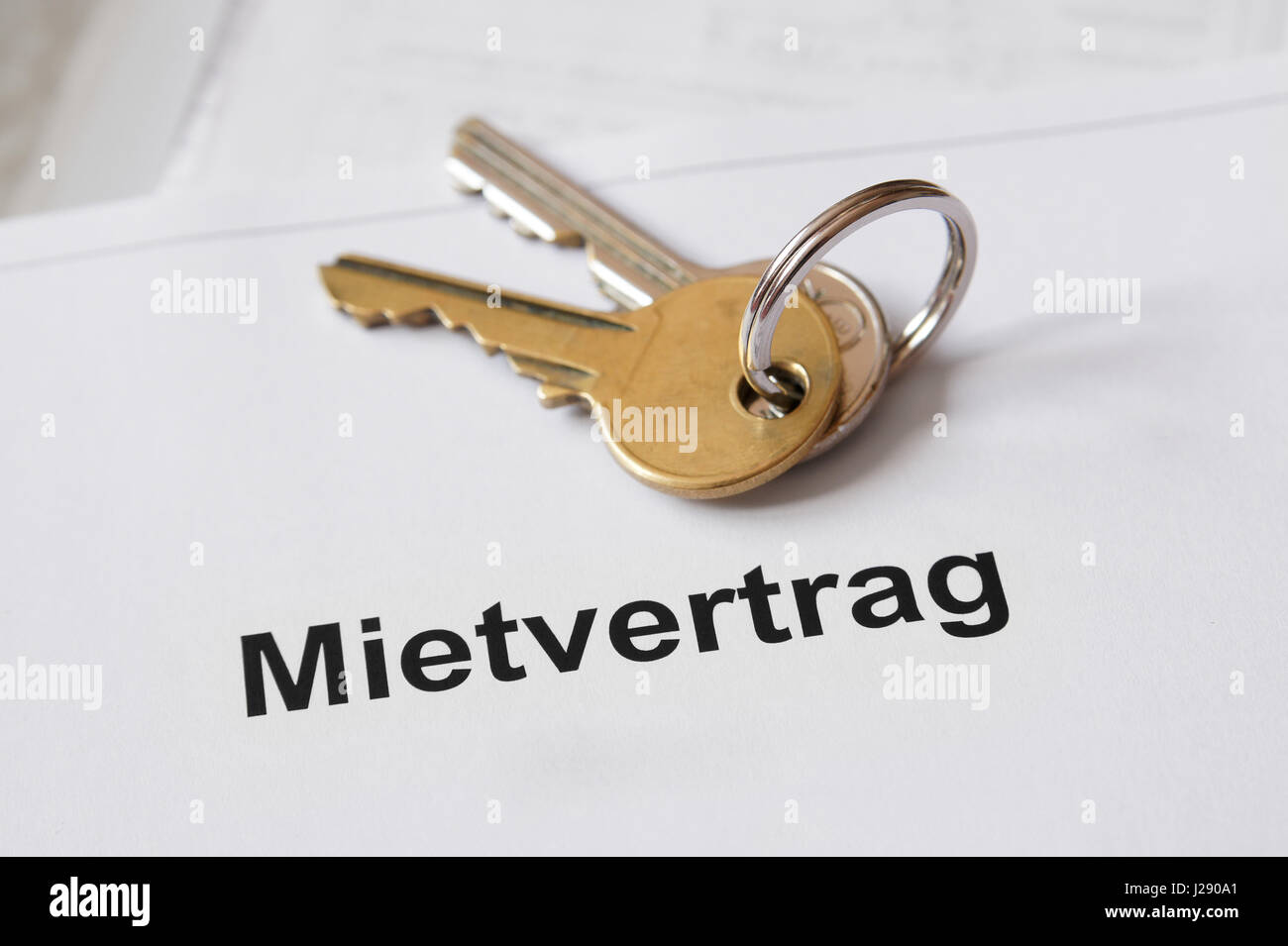 Mietvertrag German lease agreement - Stock Image
