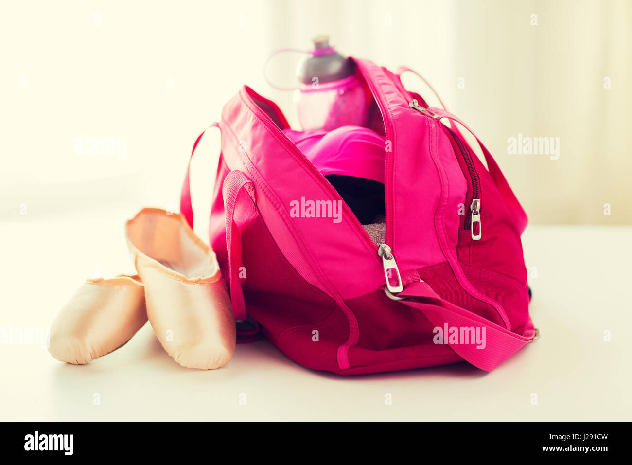 26fe10b486 close up of pointe shoes and sports bag Stock Photo  139110969 - Alamy
