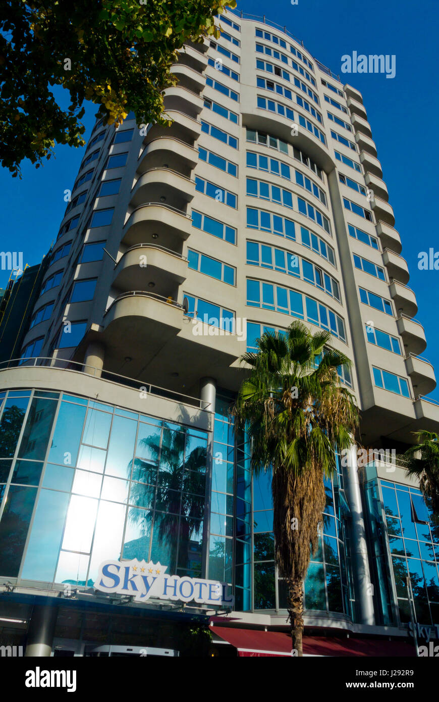 Sky Hotel, four star hotel, Blloku district, Tirana, Albania - Stock Image