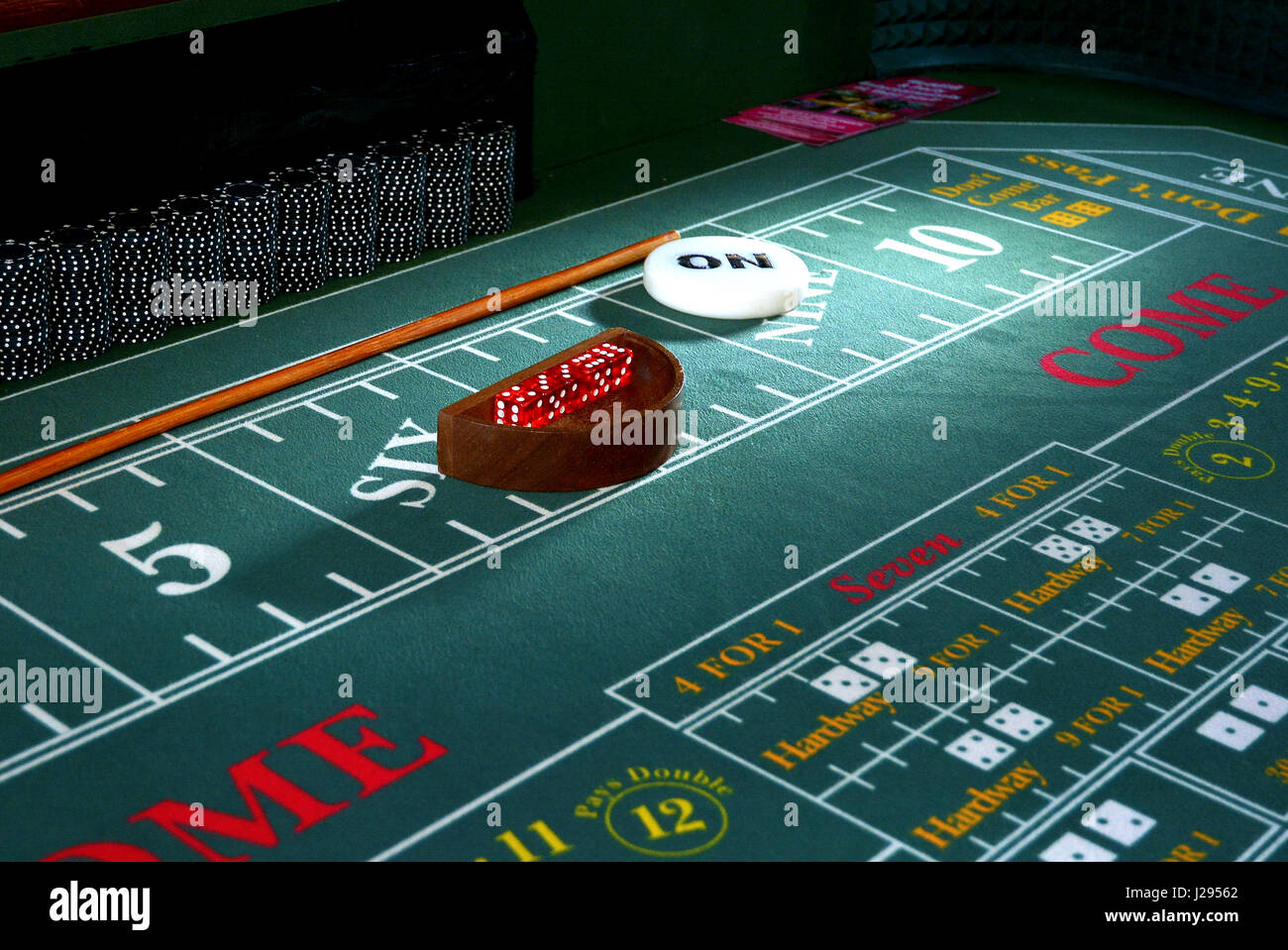 Casino Table - Fun night at a corporate event - Stock Image