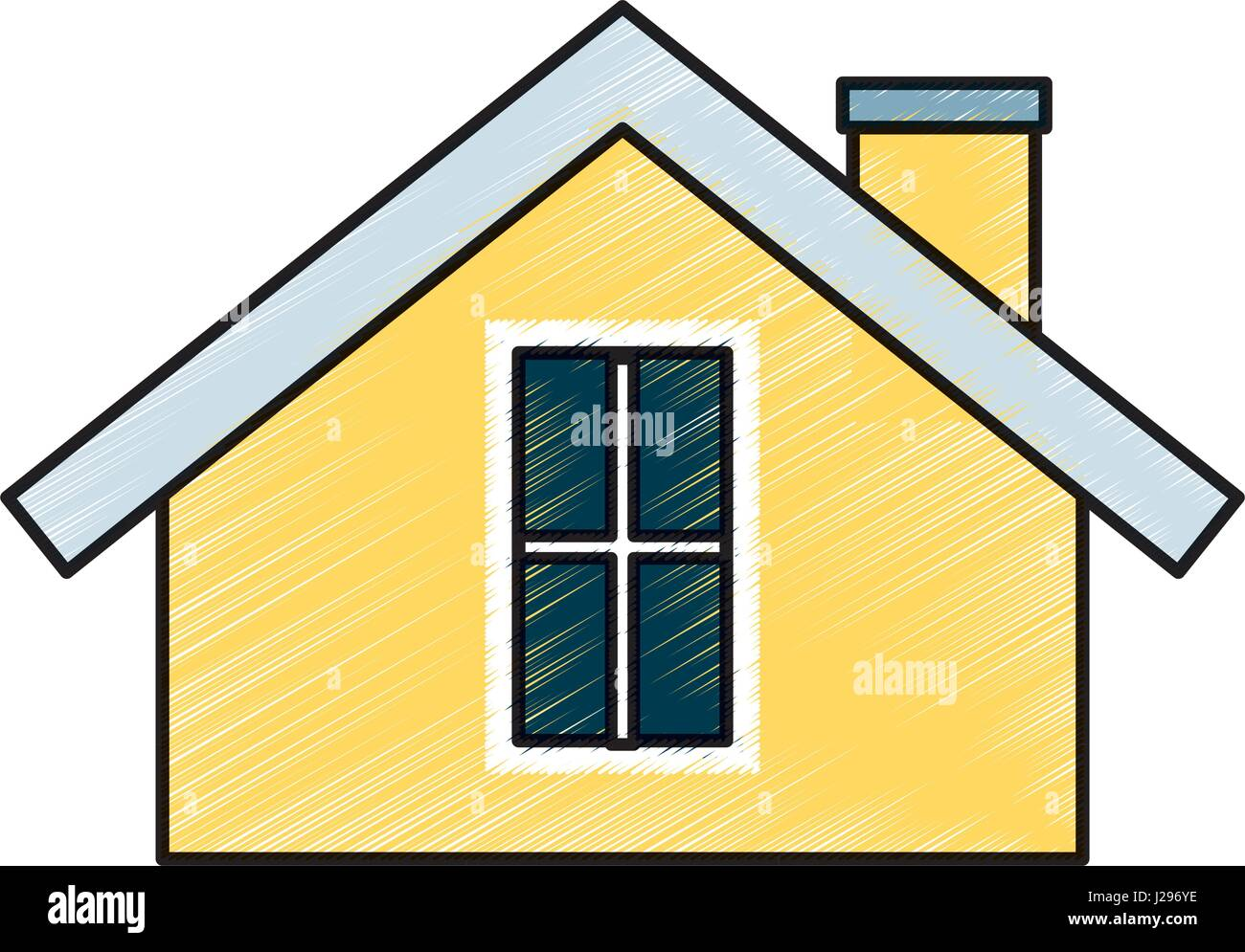 cute house exterior icon Stock Vector Art & Illustration, Vector ...