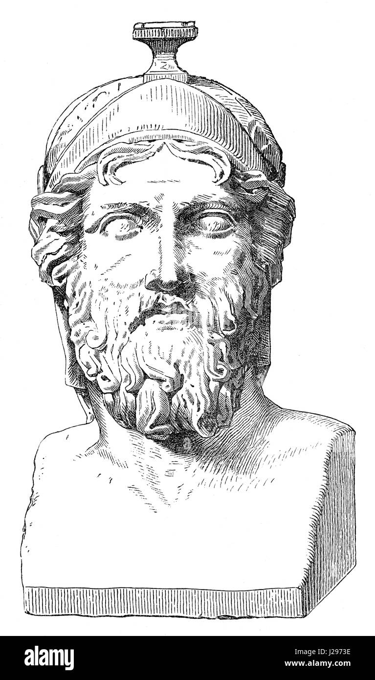 Miltiades the Younger, c. 550-489 BC, an Athenian citizen known for his role in the Battle of Marathon - Stock Image