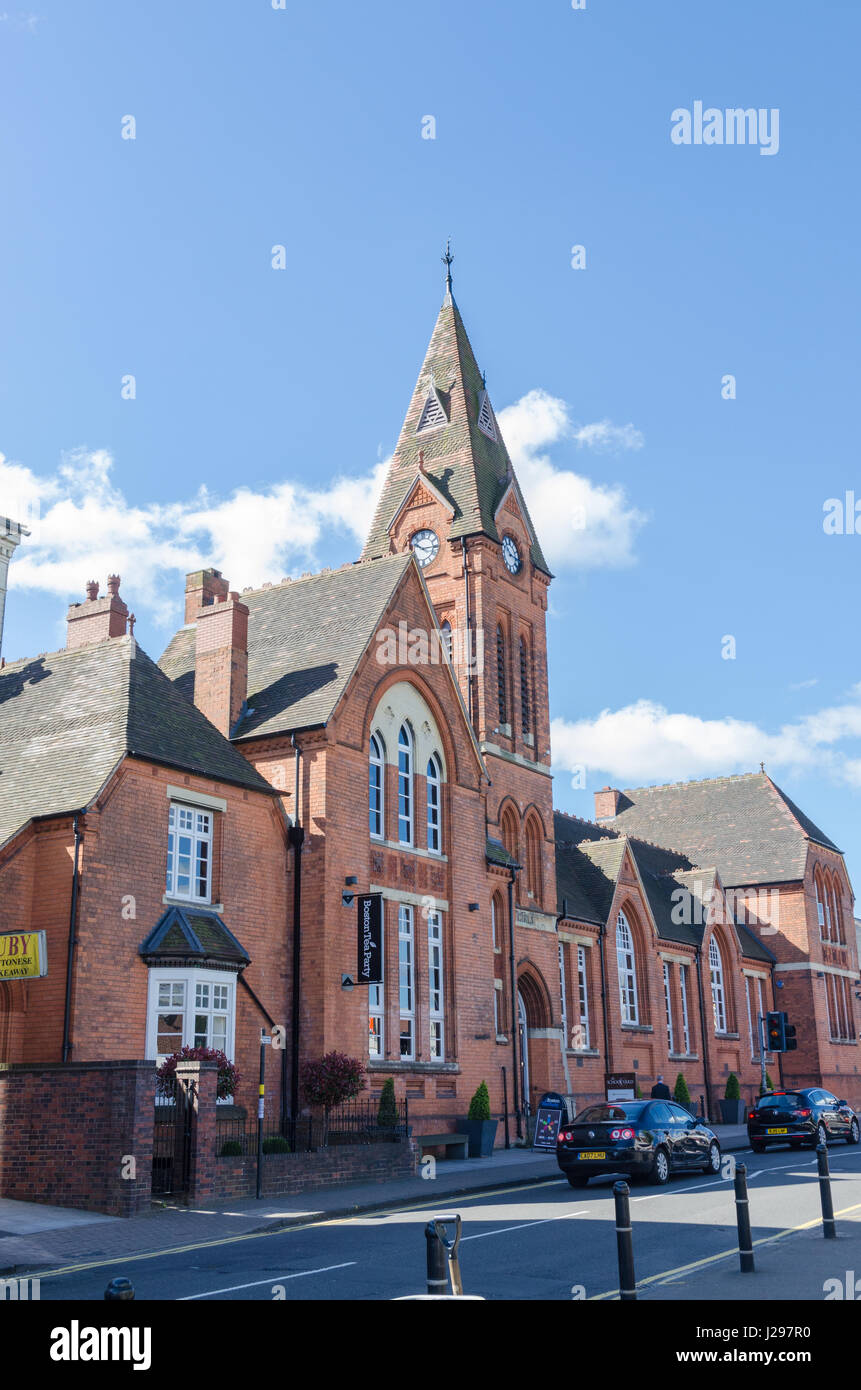 The School Yard in Harborne which is a converted Victorian school which now houses cafes and restaurants - Stock Image