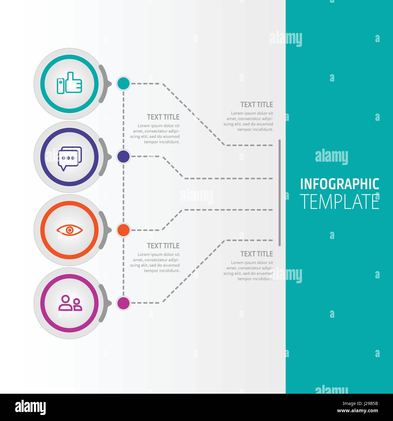 Business infographic concept - vector set of infographic elements in flat design style for presentation, booklet, - Stock Image