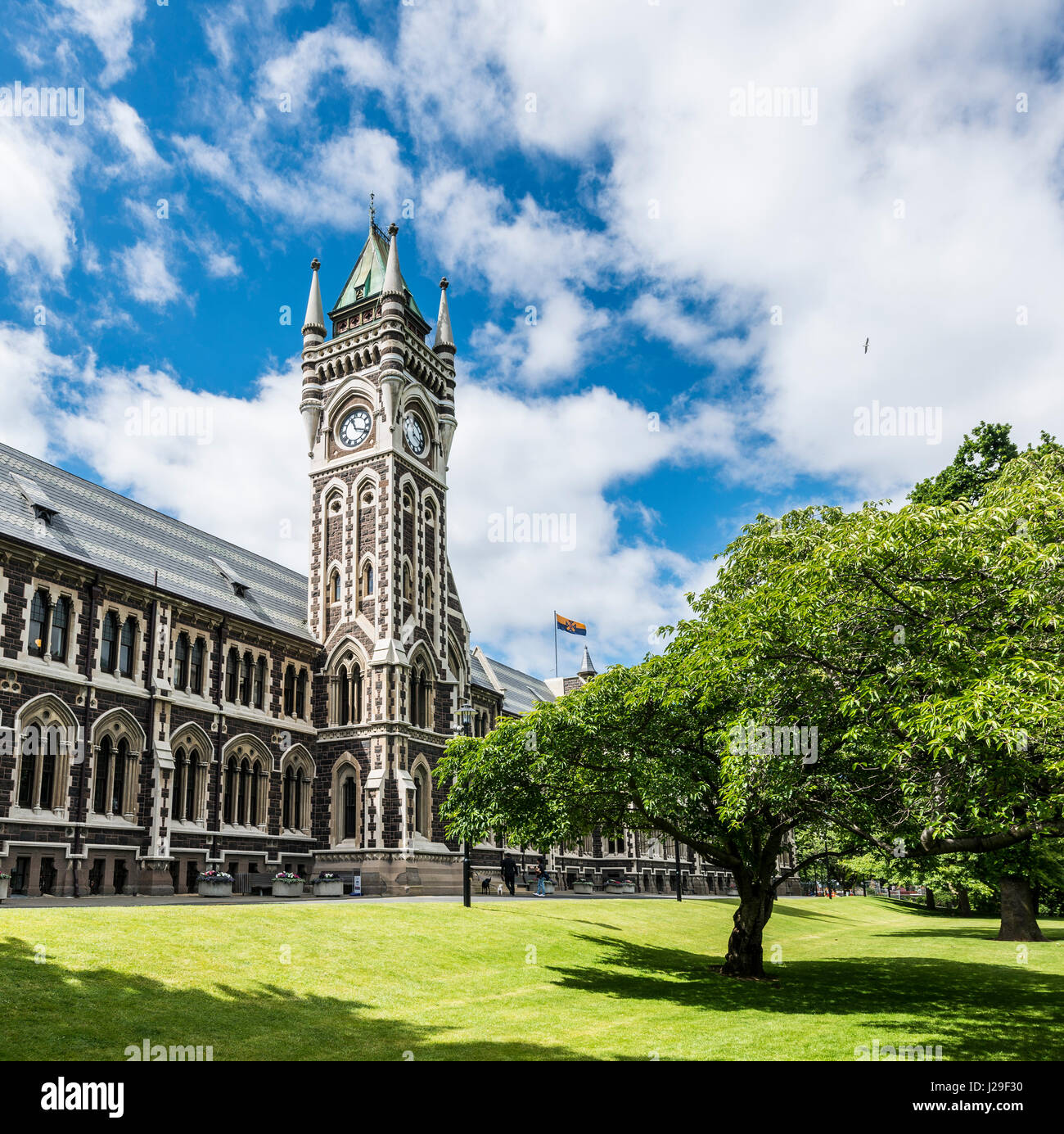 Old Neo-gothic Main Building With Bell Tower, University
