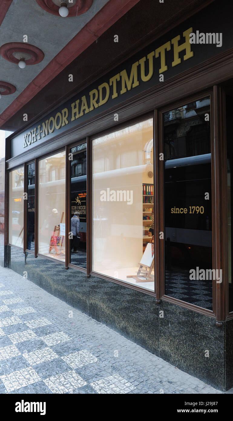 Koh-i-noor Hardtmuth store - Stock Image