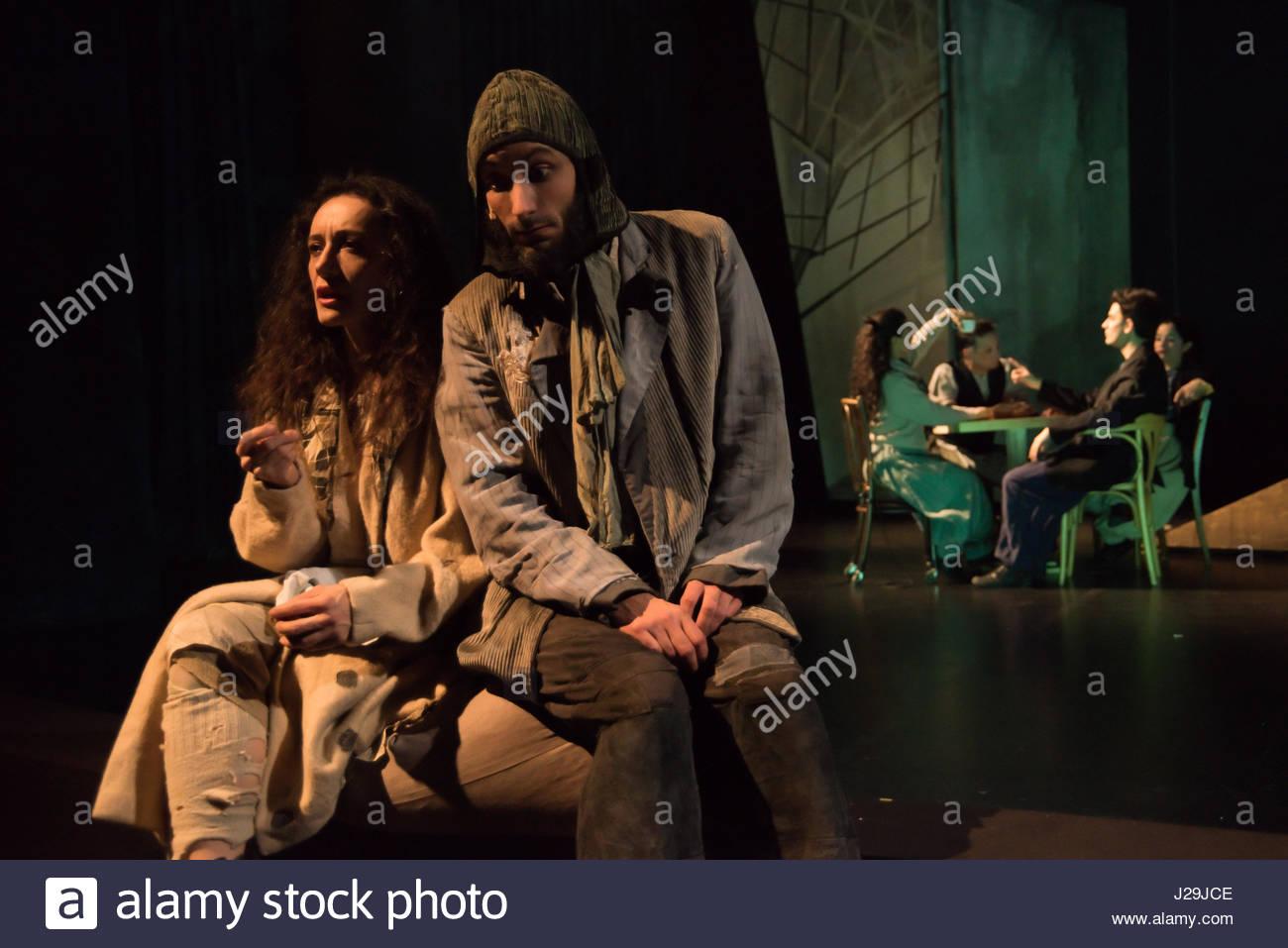 Serapions-Ensemble im Odeon, Rauschen der Flügel, Premiere 2.2.2017 (EDITORIAL ONLY) Stock Photo