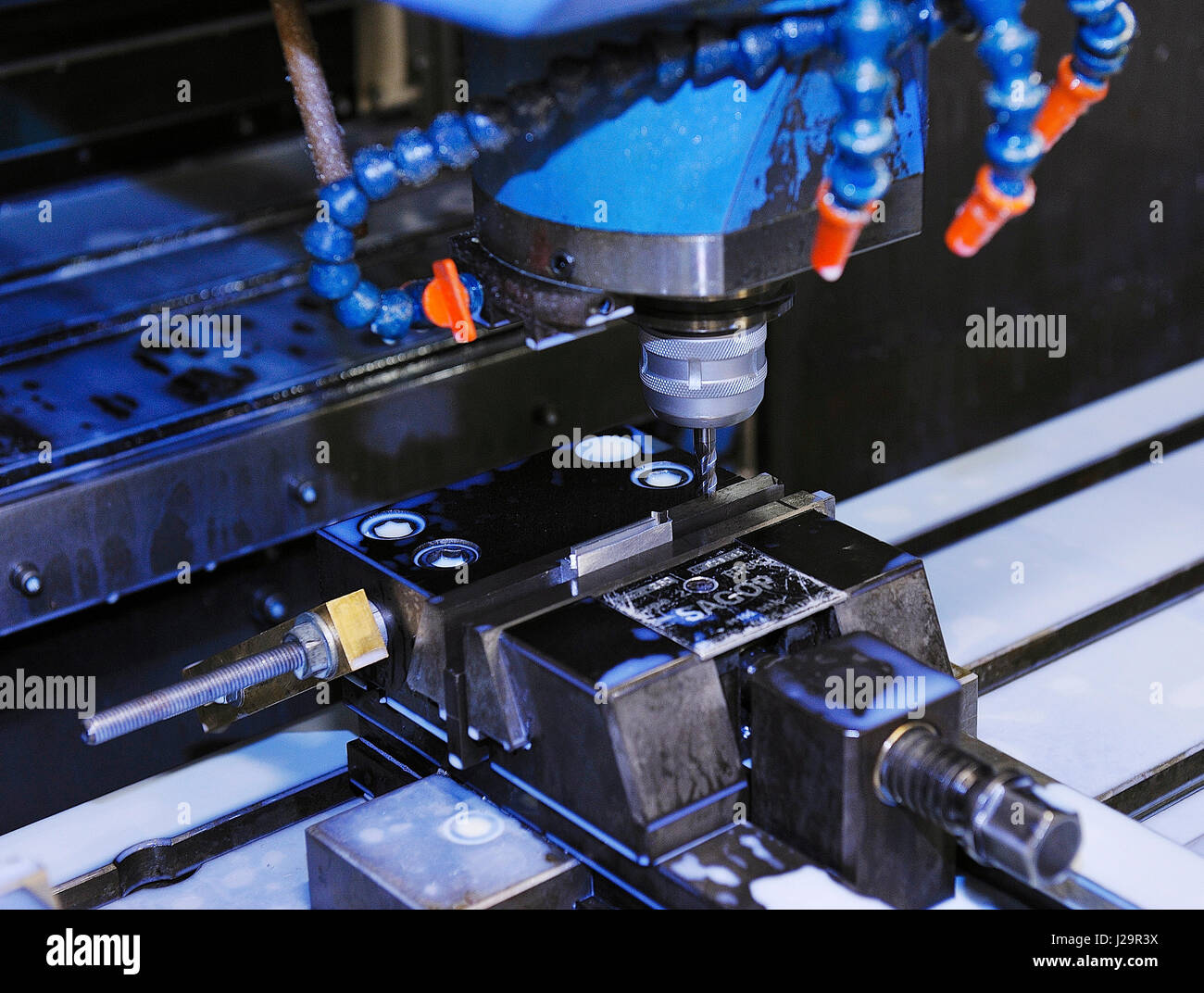 France, high-precision alpha-numeric machine tool - Stock Image