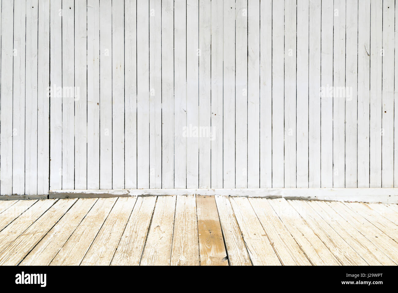 Painted wooden panels of white. Background photo texture Stock Photo