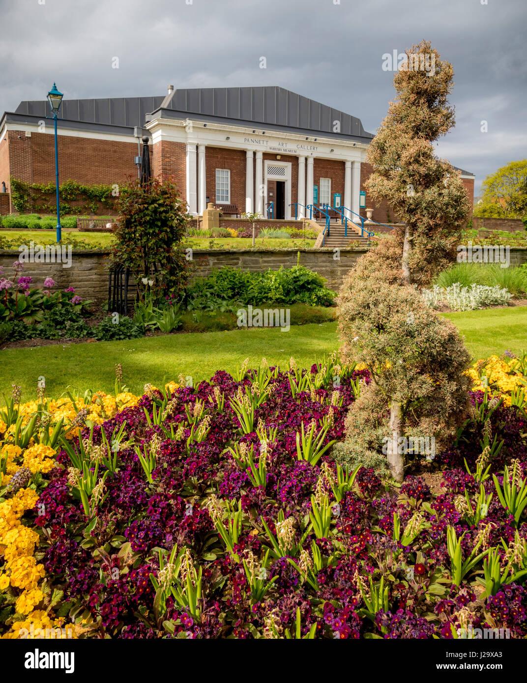 Pannett Art Gallery and Whitby Museum in Pannett Gardens, Whitby, UK. - Stock Image