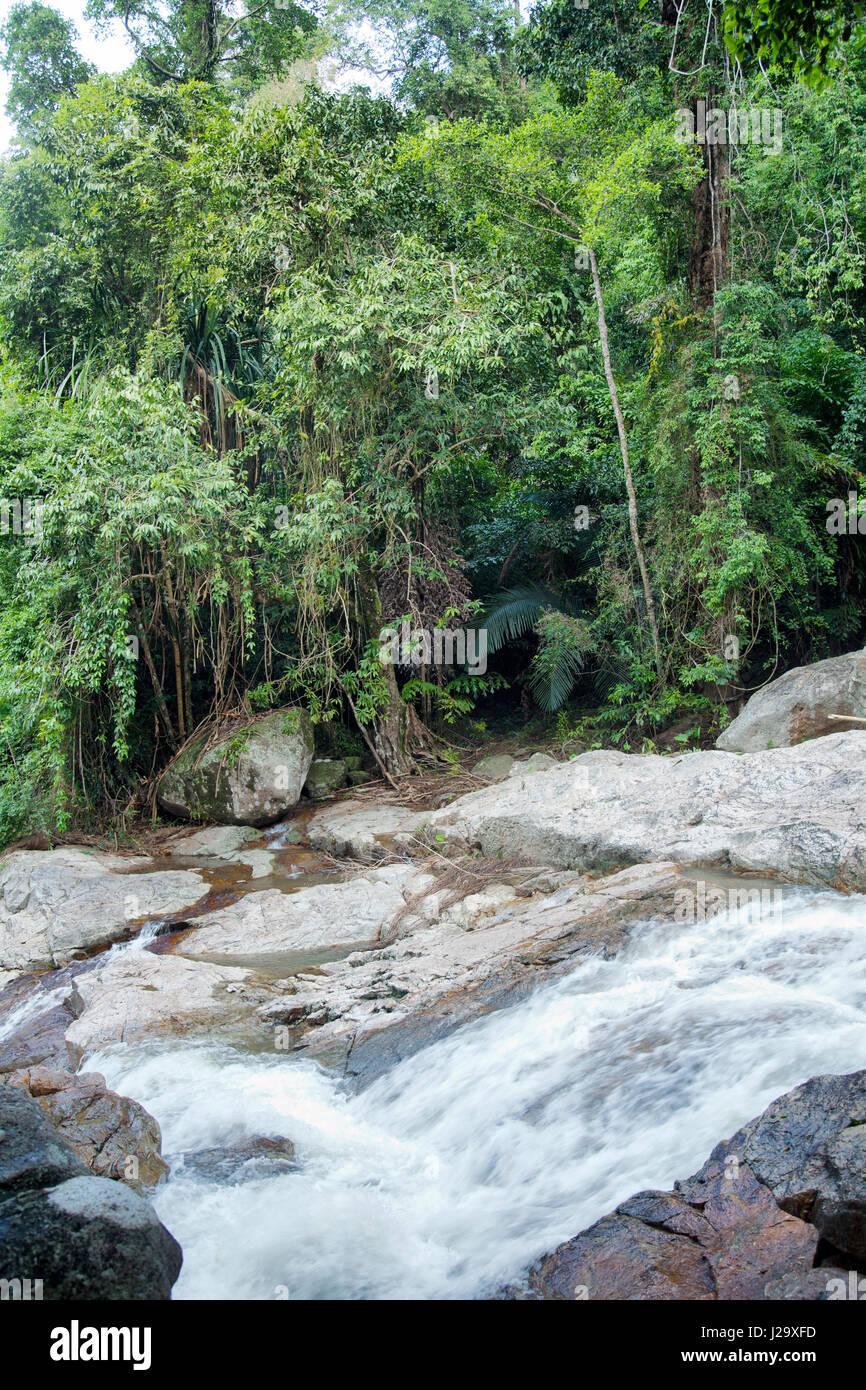 Hin Lad waterfalls in Ko Samui, Thailand - Stock Image
