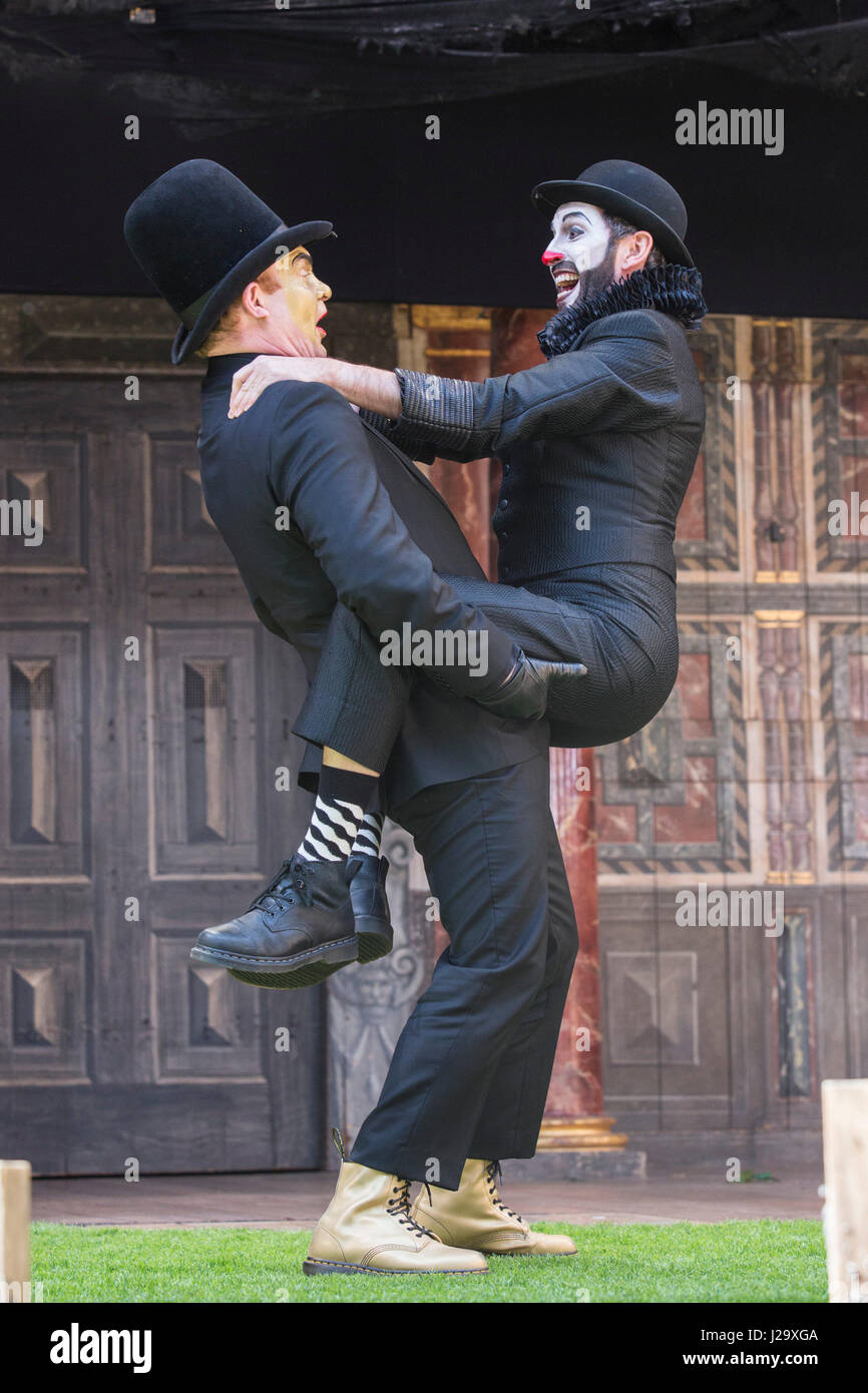 London, UK. 26 April 2017. L-R: Tim Chipping (Paris), Gareth Snook (Lord Capulet). Photocall for the Shakespearen - Stock Image