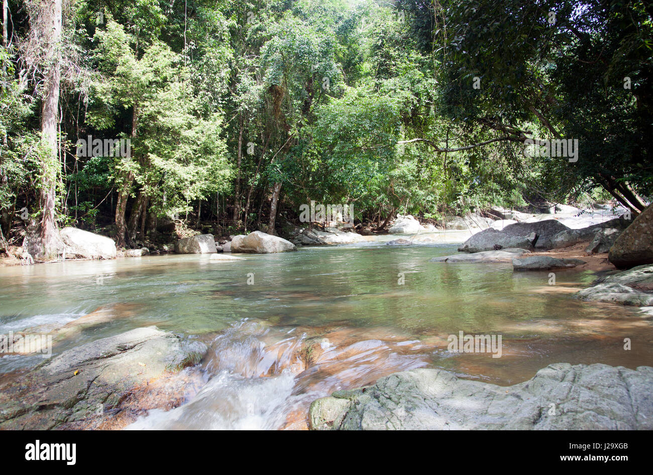 Hin Lad waterfalls in Ko Samui, Thailand - Stock Image