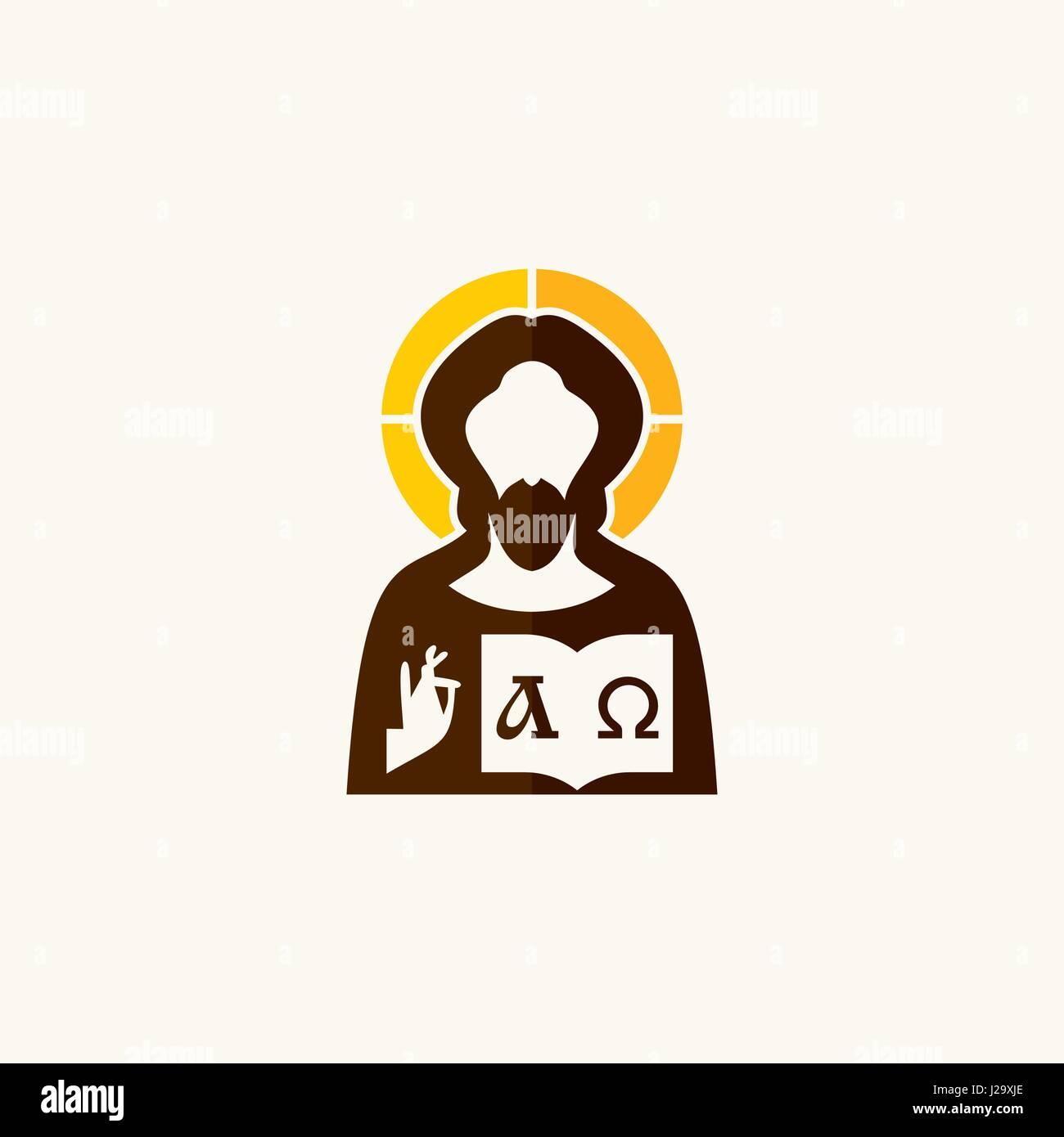 Jesus Christ Alpha And Omega Symbols Stock Vector Art