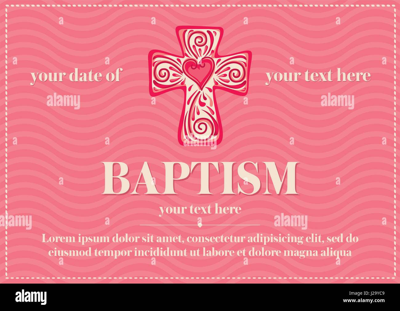 Baptism Invitation Stock Vector Images - Alamy