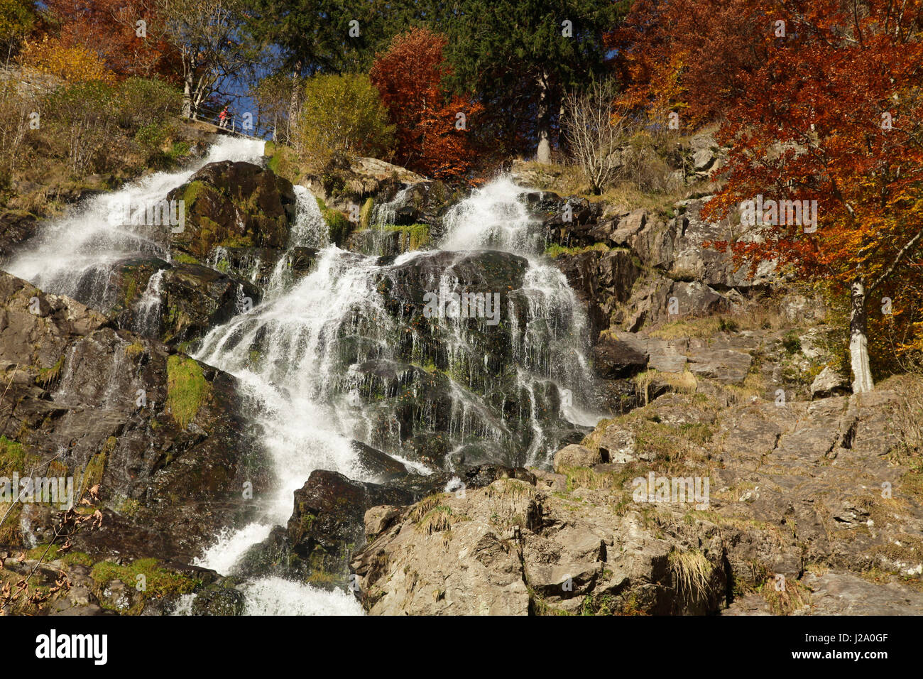 The Todtnau Waterfall in the Black Forest is the highest natural waterfall in Germany. - Stock Image
