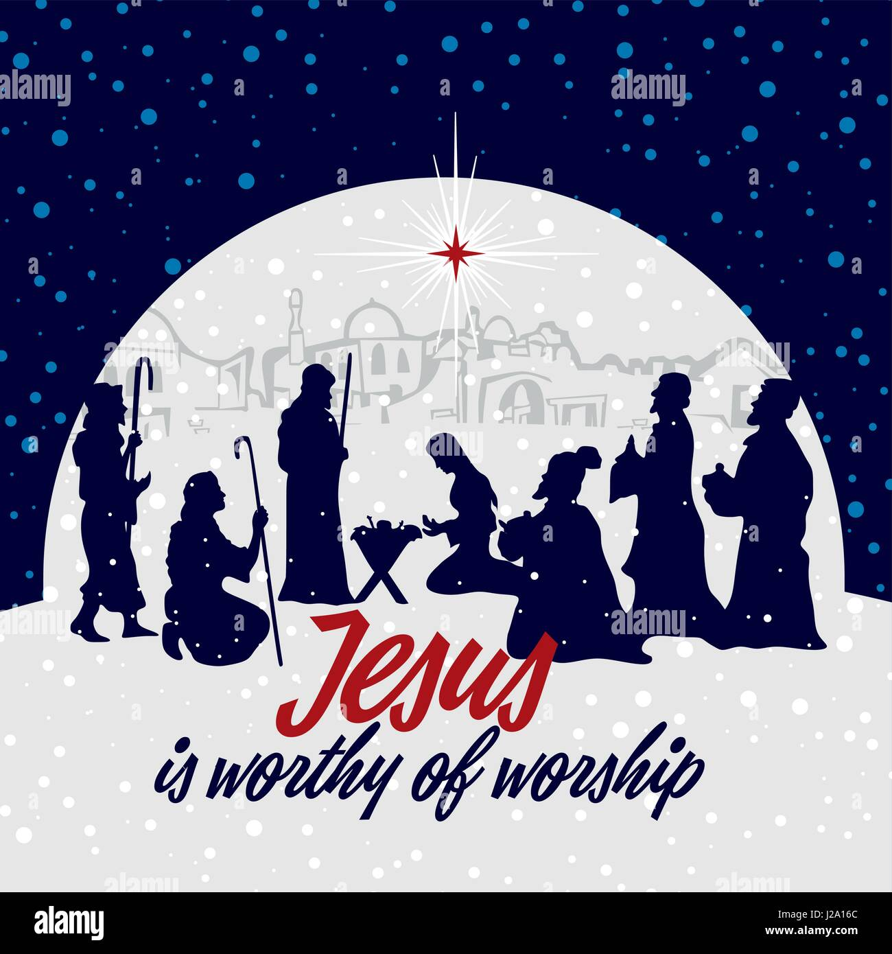 Biblical Scene Birth Jesus Bethlehem Christmas Stock Photos ...