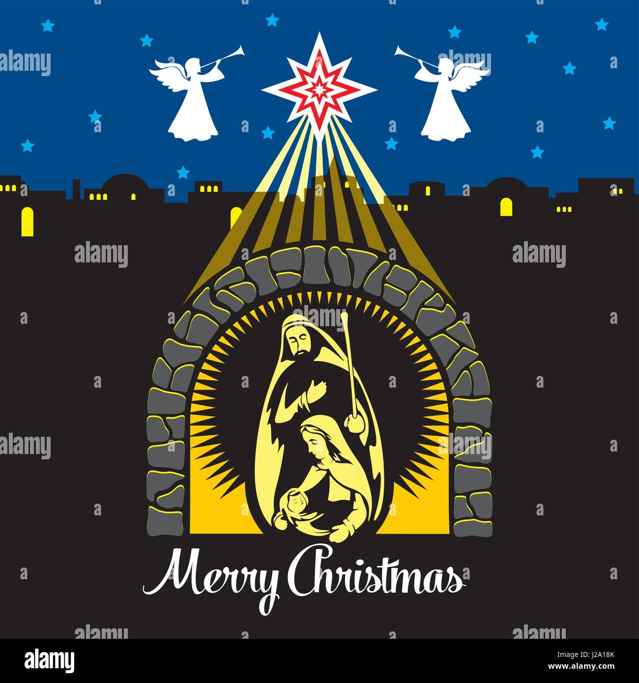 Christmas story. The Nativity of Jesus Christ. Joseph, Mary and the ...