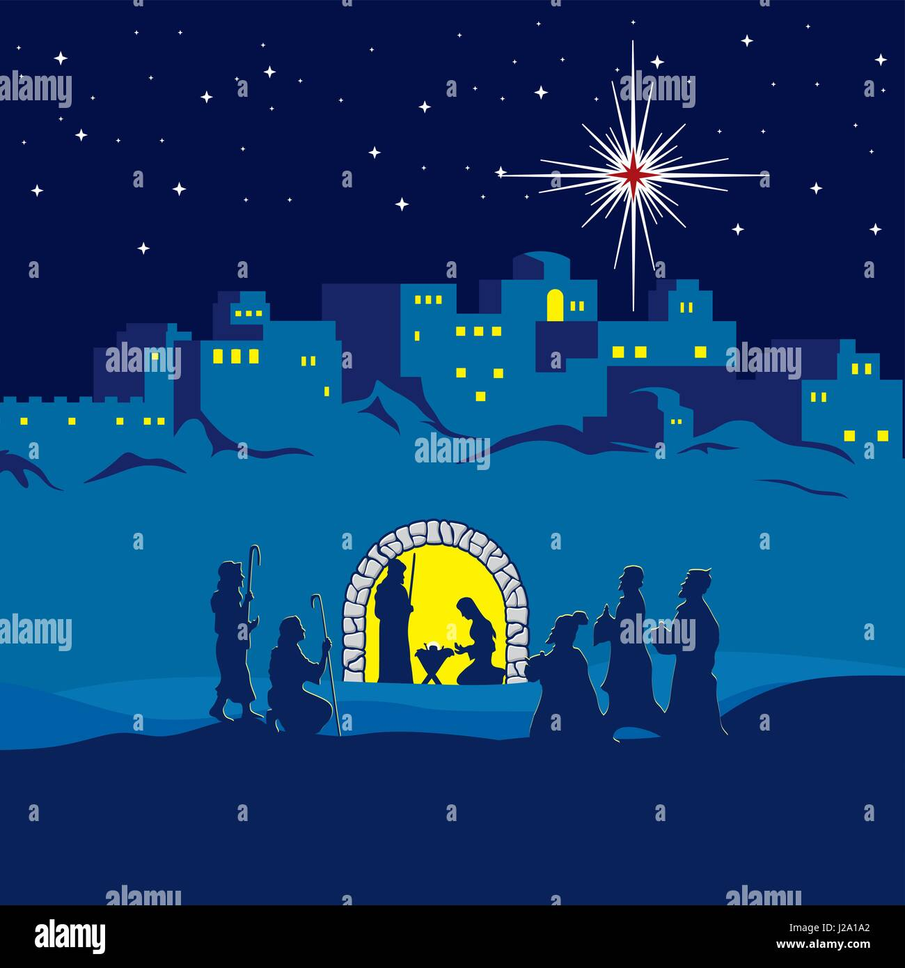 Christmas story. The Nativity of Jesus Christ. Joseph ...