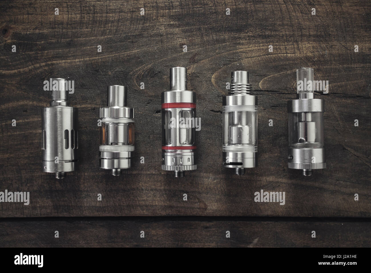 Electronic cigarette Atomizers from above - Stock Image