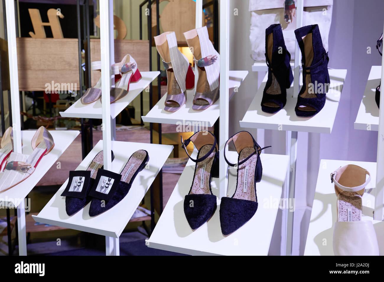 Kyiv, Ukraine - February 5, 2017: Sneshana Nekh Shoes Collection as Part of Ukrainian Fashion Week 2017. - Stock Image