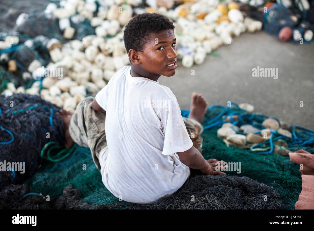 bandar abbas city a Fisher man. IRAN - Stock Image