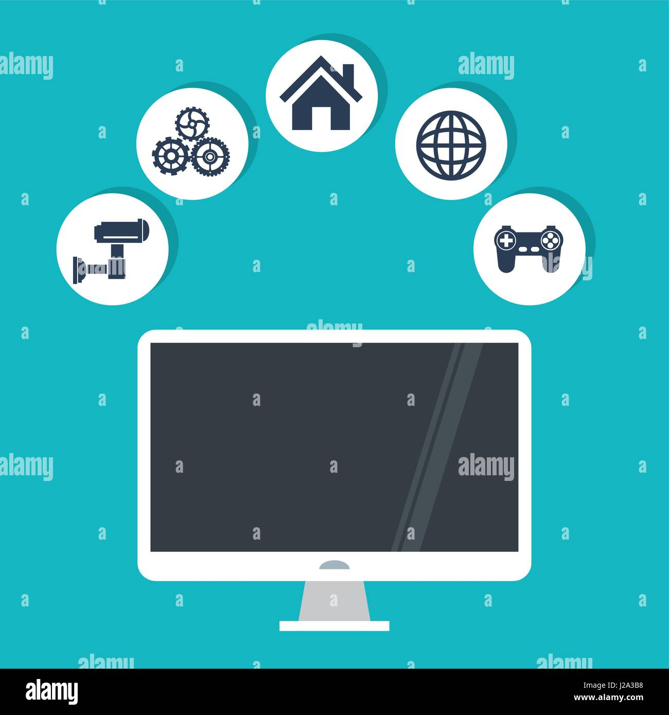 internet things computer security world game work technology - Stock Image