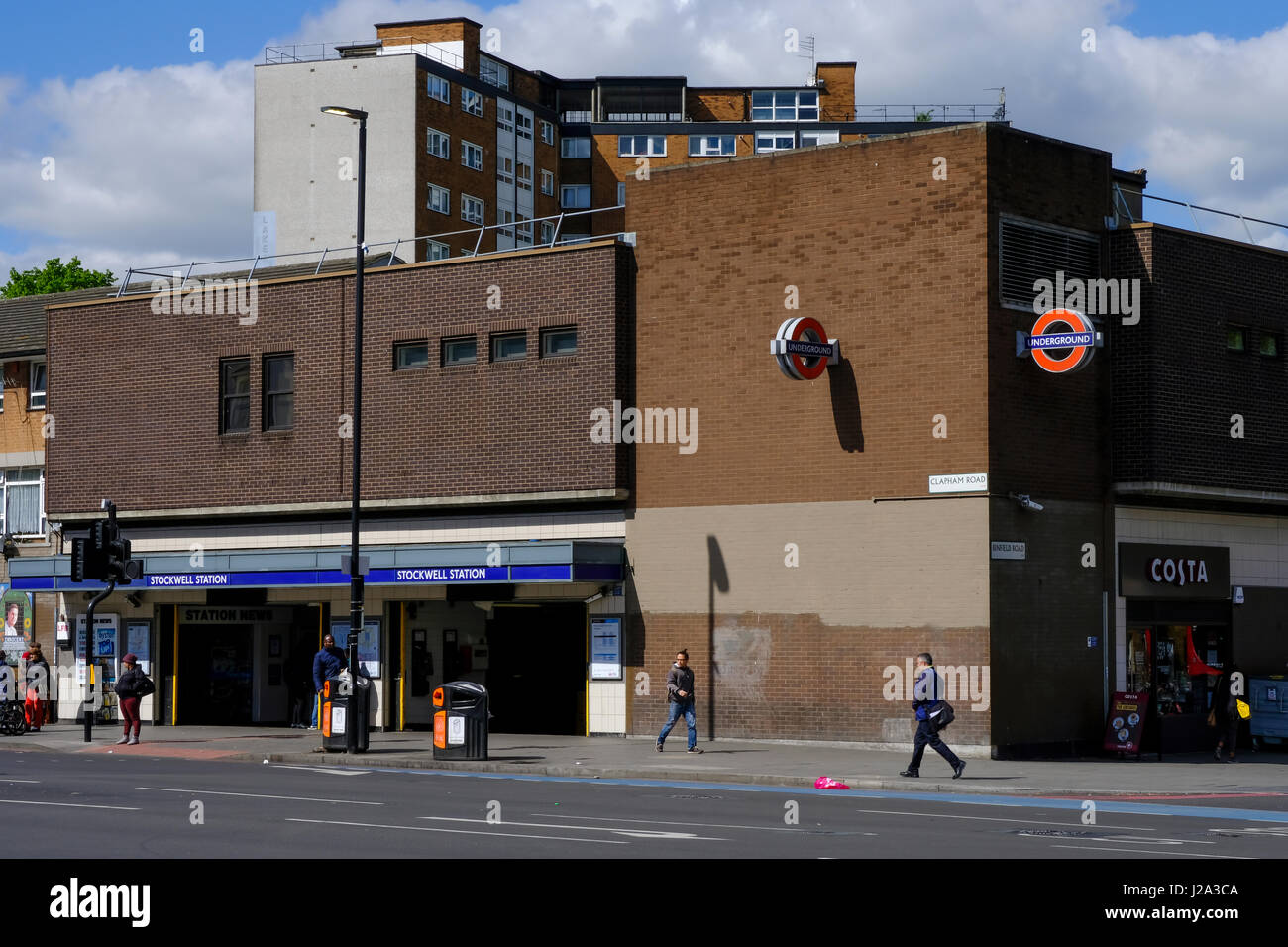 Stockwell station - Stock Image