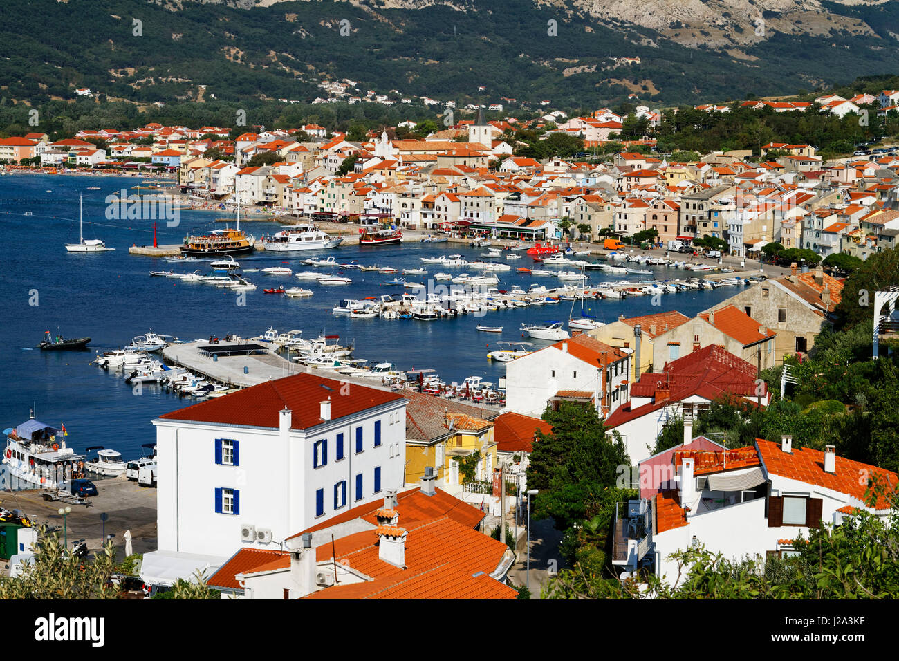 Baška on Krk island, Croatia - Stock Image